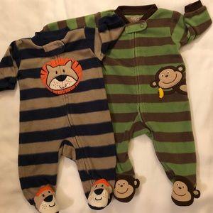CARTER'S Infant Boys Fleece Sleepers